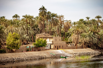 Life on the River Nile near Luxor Thebes Egypt