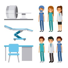 doctor medical people health care equipment furniture