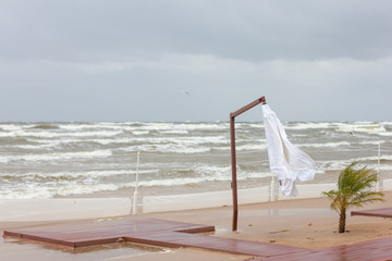 Storm on the Baltic Sea in summer