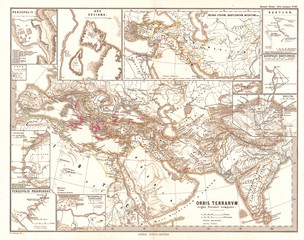 1865, Spruner Map of the World under the Persian Empire
