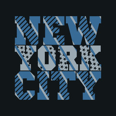 New York typography, t-shirt manhattan, design graphic
