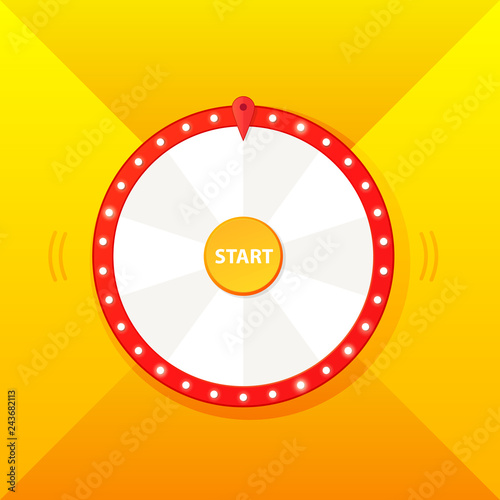 Blank wheel of fortune template design
