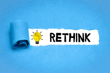 Obraz Rethink - fototapety do salonu
