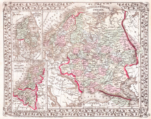 1874, Mitchell Map of Russia