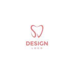 Vector logo design, dental icon, initials s c