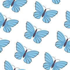 Butterfly seamless pattern vector. Summer butterflies background.