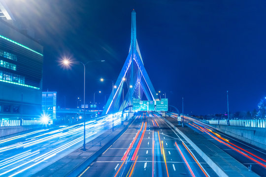 The Zakim Bunker Hill Memorial Bridge and TD Massachusetts.