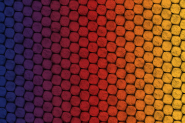 Blue, violet, red, orange and yellow background, lizard skin effect