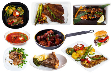 Assorted pork and beef dishes