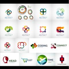 set of mega collection abstract logo design - vector