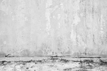 Fotorolgordijn Stenen Old grunge abstract background texture White concrete wall