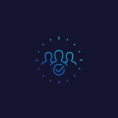 membership line vector icon