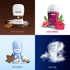 Deodorant Bottles 2x2 Design Concept