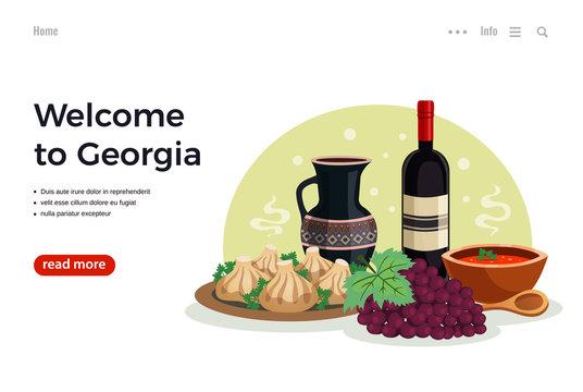 Georgia Travel Flat Banner