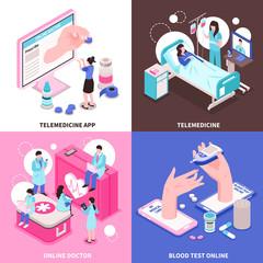 Online Medicine 2x2 Concept