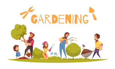 Horticulture Cartoon Illustration