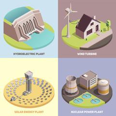 Green Energy Isometric  Concept