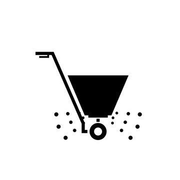 Fertilizer spreader icon. Clipart image isolated on white background