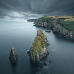 Sea stacks and coastal landscape, Cork, Ireland