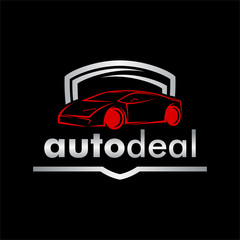 Car logo icon with modern style
