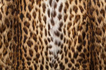 Fur with leopard print