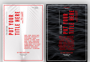 Poster Layout with Red Accents