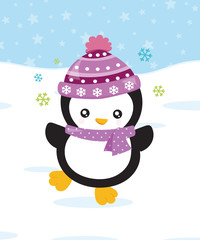 Grußkarte Pinguin