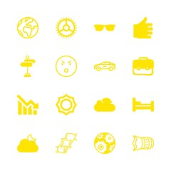 beautiful icons set with street, bed and suitcase vector set