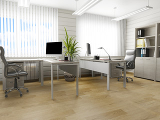 Office interior in modern style, 3d rendering