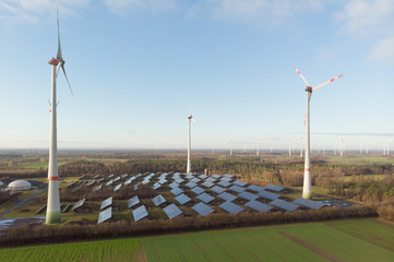 Wind and Solar farm, Saerbeck Germany