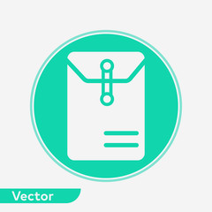 Office envelope vector icon sign symbol