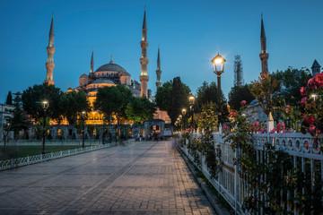 Sultanahmet mosque at night.