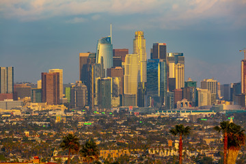 Downtown Los Angeles at Sunset Wall mural