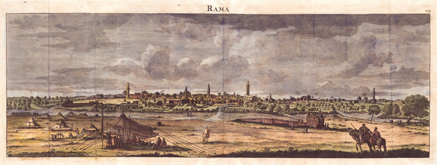 Wall Mural - 1698, de Bruijin View of Rama, Israel, Palestine, Holy Land