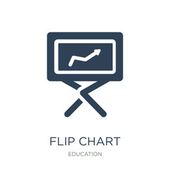 flip chart icon vector on white background, flip chart trendy fi