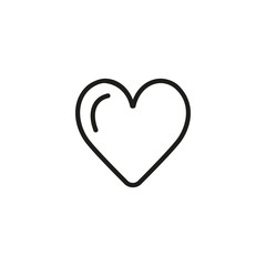 Heart line icon. Love, feeling, emotion. Romance concept. Valentines day, health, affection