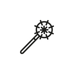 Morgenstern line icon. Weapon, battle, warrior. Arms concept. Can be used for topics like fighting, defense, historical weapon.