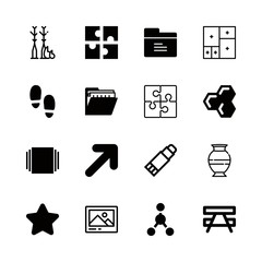 texture icons set with honeycomb, ceramic and craft vector set
