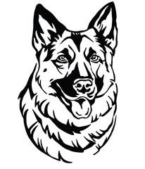 Decorative portrait of Dog Shepherd 2 vector illustration