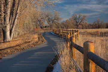 rural windy bike trail in eastern Colorado