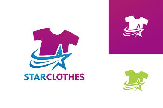 Star Clothes Logo Template Design Vector, Emblem, Design Concept, Creative Symbol, Icon
