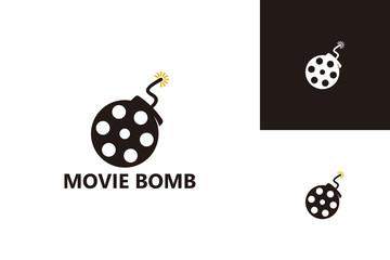 Movie Bomb Logo Template Design Vector, Emblem, Design Concept, Creative Symbol, Icon