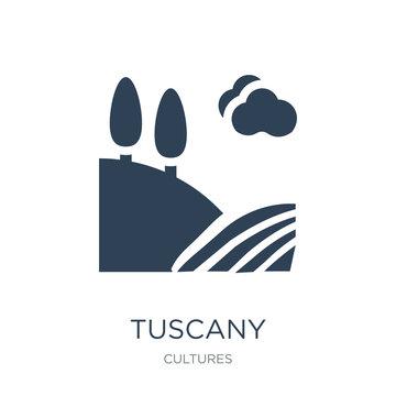 tuscany icon vector on white background, tuscany trendy filled i