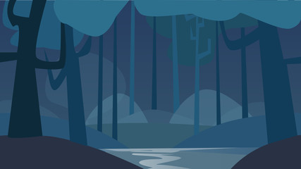 the background of the night forest.