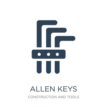 allen keys icon vector on white background, allen keys trendy fi