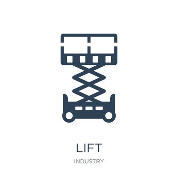 lift icon vector on white background, lift trendy filled icons f