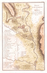 1783, Bocage Map of the Topography of Sparta, Ancient Greece, and Environs