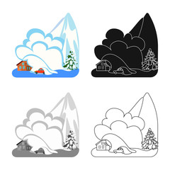 Vector design of weather and distress logo. Collection of weather and crash vector icon for stock.