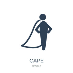 cape icon vector on white background, cape trendy filled icons f