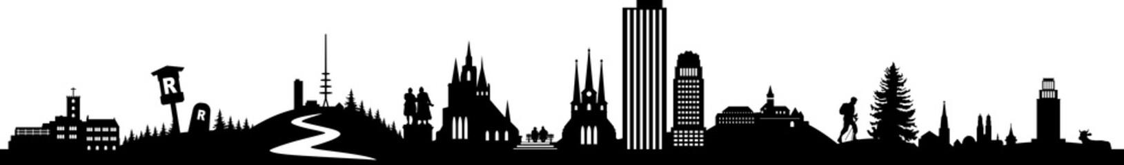 Thüringen Skyline Landscape
